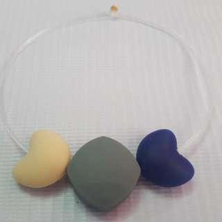 Sensory oral motor chewy bracelet Gray,cream and navy