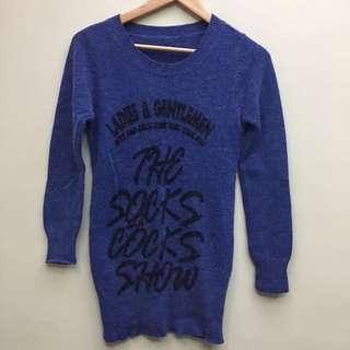 🚚 藍色針織毛衣