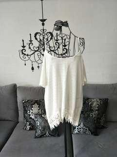 NEW! White Plus Size Off Shoulder Top