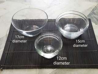 IKEA Clear Glass Bowls