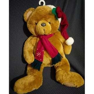 可掛式 聖誕圍巾熊 絨毛娃娃 玩偶 布偶
