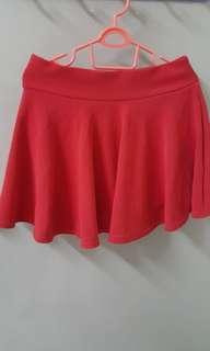 Hot Red short skirt