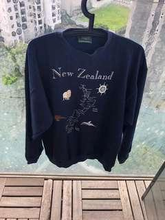 🚚 New Zealand Navy Blue Man Sweater Pullover S