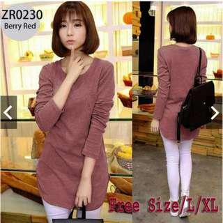 #CNY888 Plain Long Sleeve Cotton Tshirt (Ready Stock)