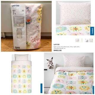 IKEA LATTJO Quilt Cover & Pillowcase