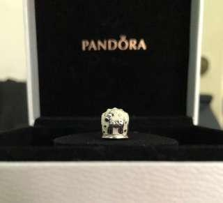 (NETT PRICE) EEUC Authentic Pandora Reindeer Snowglobe Enamel & Silver Charm