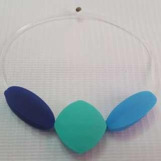 Sensory oral motor chewy bracelet Navy blue,Turquoise & blue