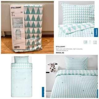 IKEA STILLSAMT Quilt Cover & Pillowcase