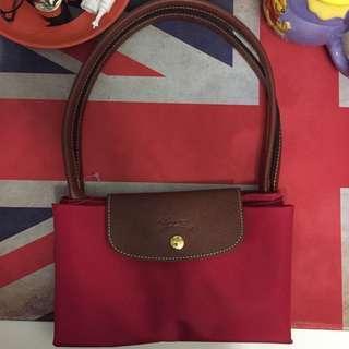 Longchamp Bag 紅色長帶中size