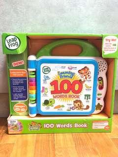 🚚 ~Ready Stocked~ LeapFrog Learning Friends 100 Words Book, Green