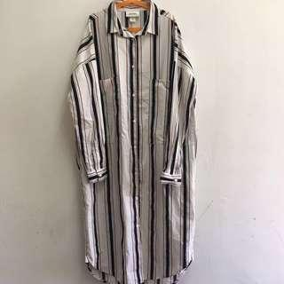 🆓📦 Monki Long Striped Shirt