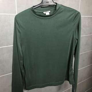 Monki long sleeves shirt green