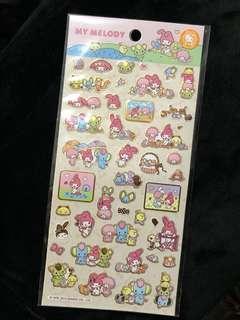 [全新包郵]香港版Sanrio My Melody 貼紙 我的美樂蒂 stickers