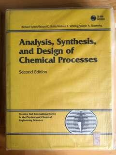 Analysis, Synthesis, and Design of Chemical Process