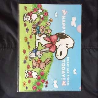 日本正版Snoopy 史努比 A4 File