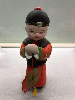 Good fortune clay figurines