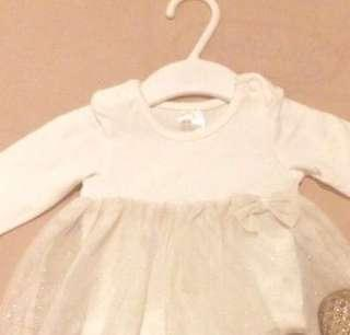 H&M glitter dress nb/3mos