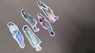 Girl Stickers Set F