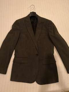 Men Blazer Dark Grey Size 44