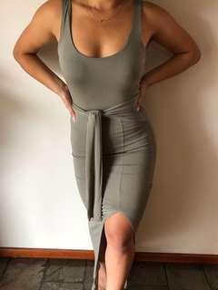 Fresh Soul Bodycon Split Maxi Dress