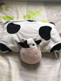 2 in 1 travel pillow blanket