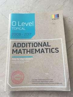 🚚 O level Additional Math TYS topical