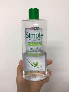 🚚 Simple卸妝水