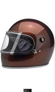 Biltwell Gringo S Bourbon Whiskey Metallic SIZE SMALL MEDIUM LARGE Full face motorcycle motorbike cafe Racer Helmet