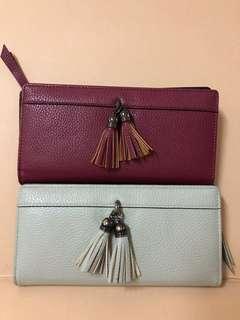 2 miniso long wallets