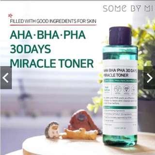 #CNY888 READY STOCK SOMEBYMI AHA. BHA. PHA 30Days Miracle Toner 150ml