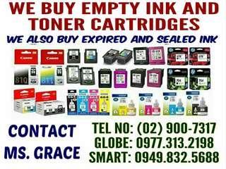 WE BUY EMPTY INK AND TONER CARTRIDGES