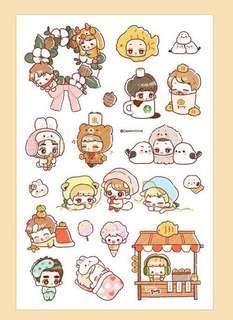 SHARING - EXO sticker sheet