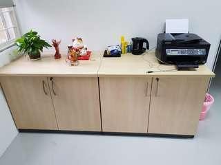 2 pcs Wood Cabinet
