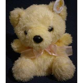 黃色 套手 手套 小熊 絨毛娃娃 玩偶 布偶
