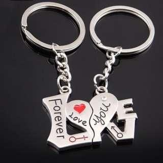 Love forever couples keychains