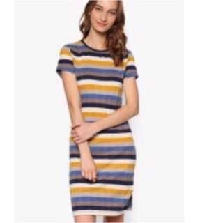Sale Nwt Zalora Stripe Dress Size S
