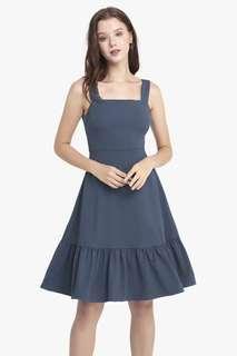 BNIP Fayth Bora Ruffle Midi Dress