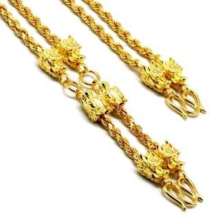 Customised 8 (發) Dragon 4 hook Amulet Chain