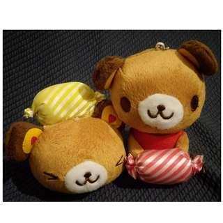 *可愛娃娃 買五送一* 吸盤吊飾糖果小熊 絨毛娃娃 玩偶 布偶