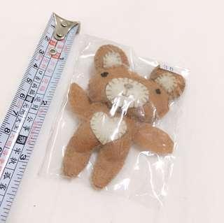 手工縫製不織布小熊