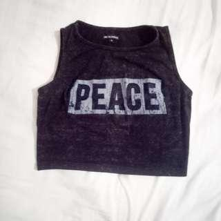 Crop Top Peace for Gym