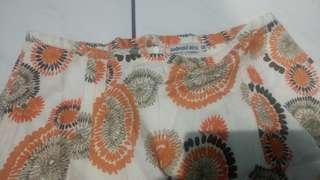 Rok mini bunga2 orange