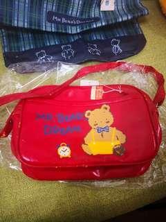 Mr Bear's Dream 日本絕版1989年孭袋(平售)有甩油(見圖)
