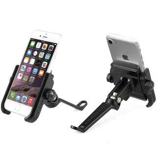Stainless Steel Premium Side Mirror Handphone Mount for Motorcycle