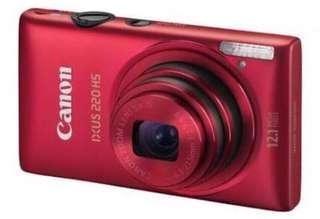 Jual Kamera Canon IXUS 220HS merah