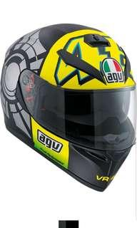 AGV K-3 SV Winter Test 12 SIZE SMALL ONLY Motorcycle MOTORBIKE Full Face Helmet