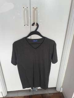 Grey V neck T shirt
