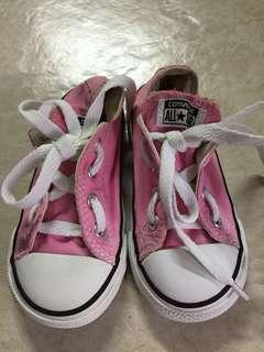 Original Pink Converse for kids size 7