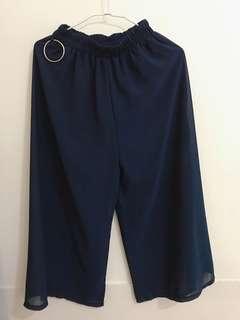 🚚 深藍寬褲