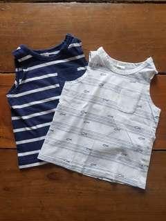 H&M stripes sleeveless